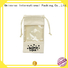 New canvas tote bags wholesale pu leather striped for makeup