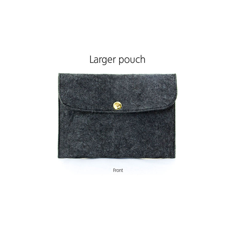 high-end Custom felt made felt tote bag Yonghuajie flap