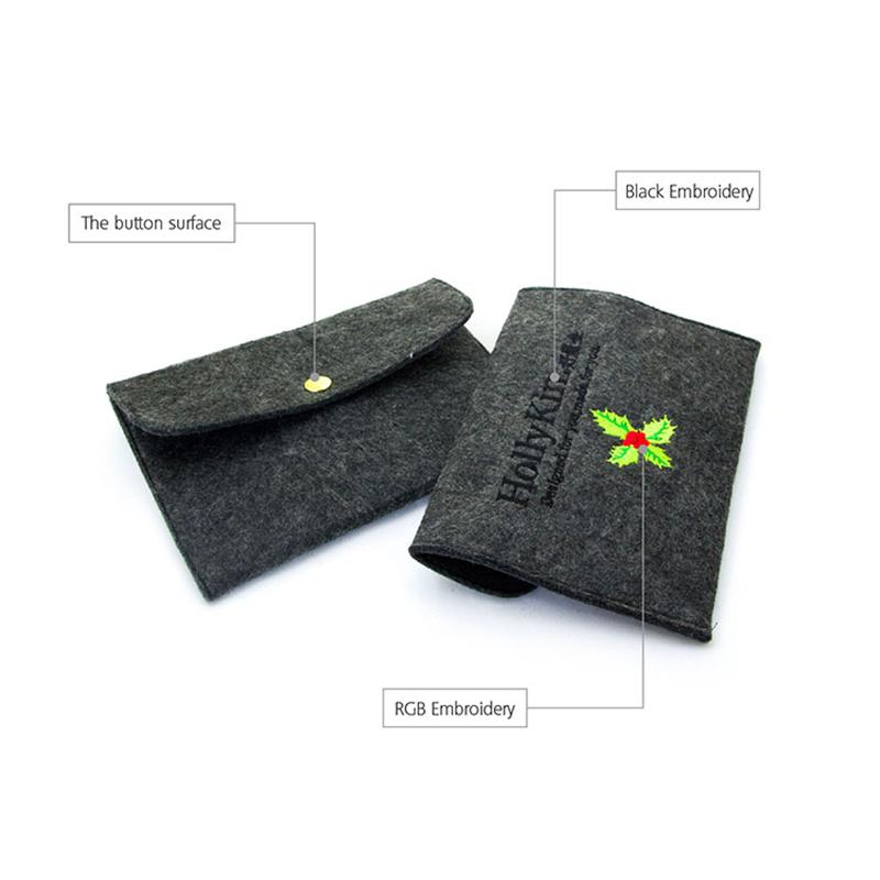 Yonghuajie felt pouch felt storage bag felt shopping bag felt jewelry bag embroidered for gift packing-4