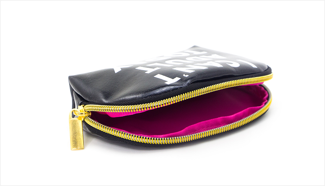 leather cosmetic pouch pocket leather leather makeup bag Yonghuajie Brand