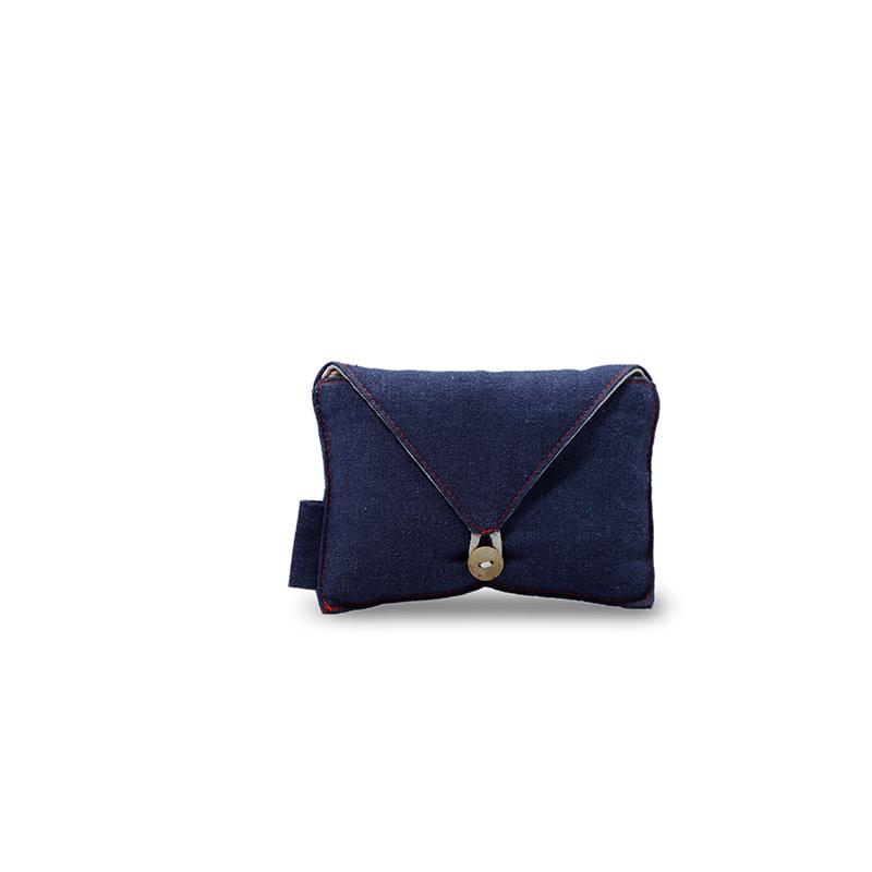 Envelope Linen Pouch Linen Drawstring Bag With Button Close