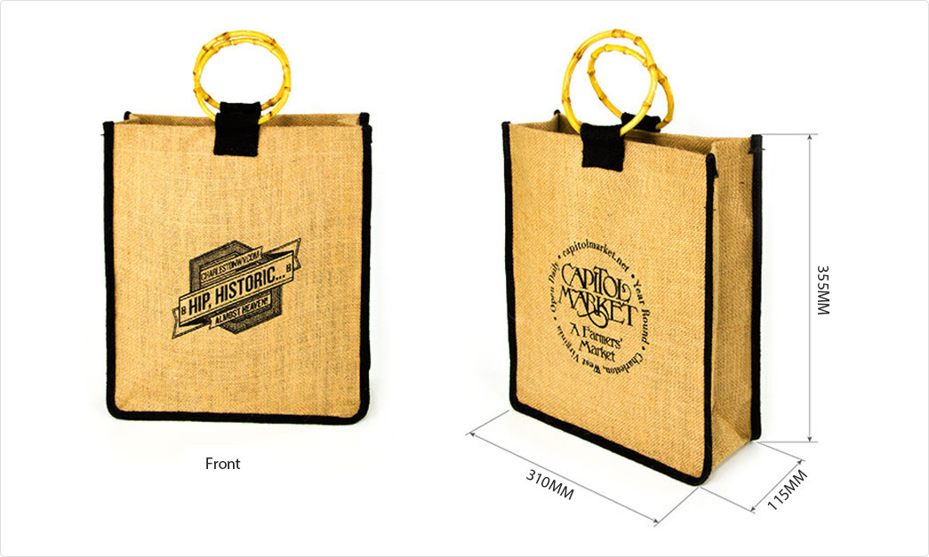 Wholesale bamboo jute gift bags bags Yonghuajie Brand