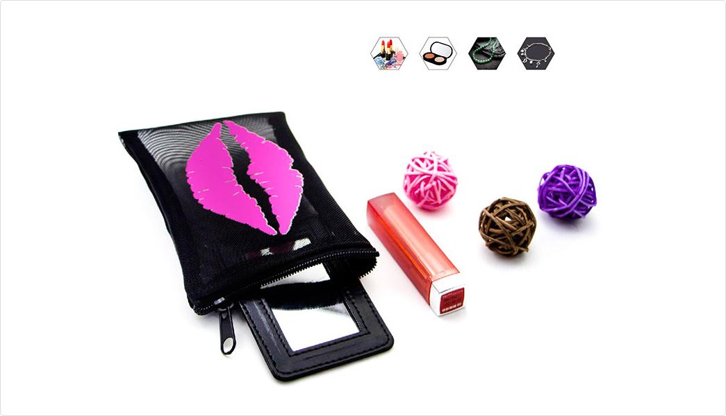 toiletry mesh black mesh Yonghuajie Brand mesh drawstring bags supplier