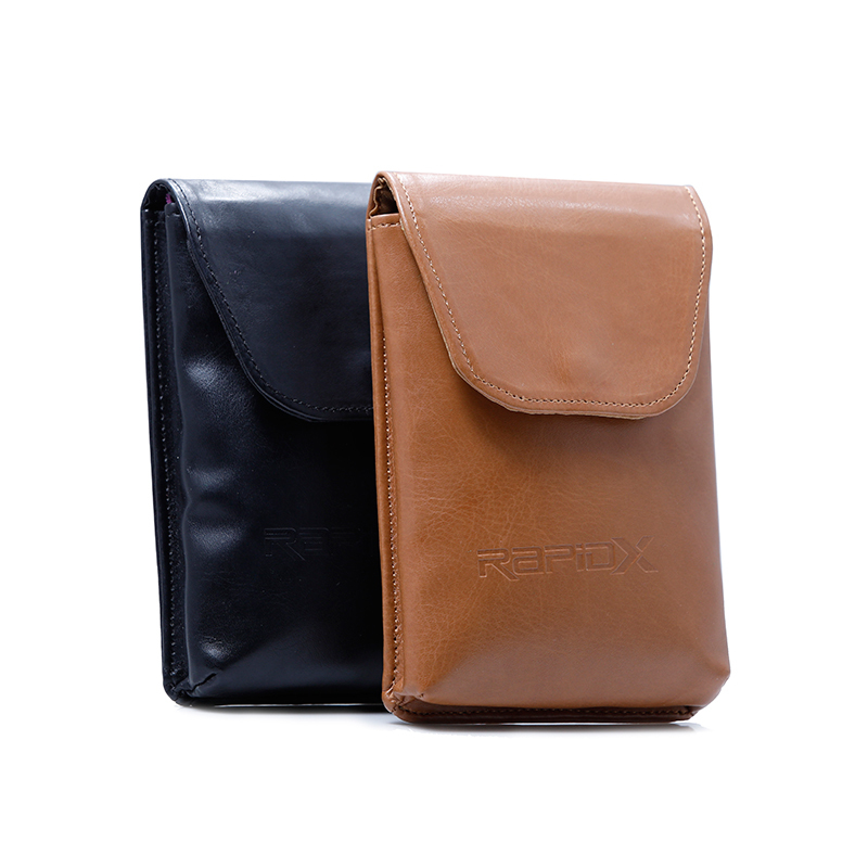 PU Leather Makeup Bag With Flap And Button Closure Embossing Logo