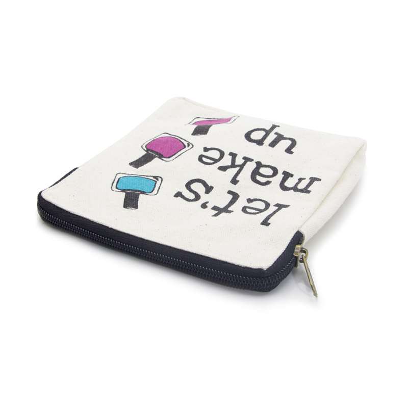 Lamination Canvas Make Up Bag with Zipper