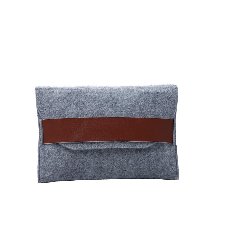 Custom Grey Felt Bag for power bank packing
