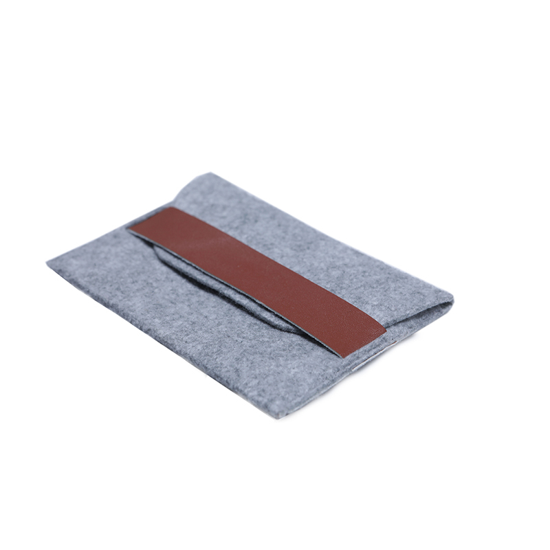 Custom Grey Felt Bag for power bank packing