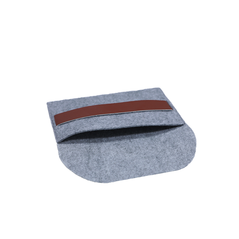 Custom Grey Felt Purse For Power Bank Packing