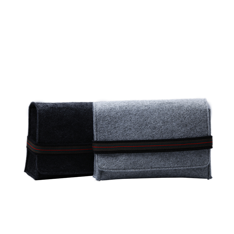 Custom Felt bag for moilbe phone and power bank packaging with elastic