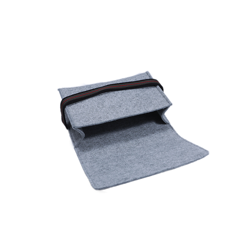 Custom Felt Tote Bag For Moilbe Phone And Power Bank Packaging With Elastic