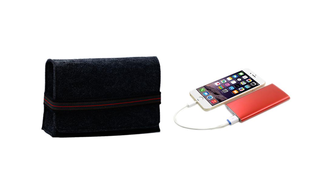 Yonghuajie on sale felt pouch felt storage bag felt shopping bag felt jewelry bag embroidered for storage-4