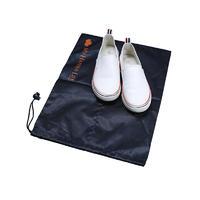 Black Nylon Drawstring Bag With Drawstring