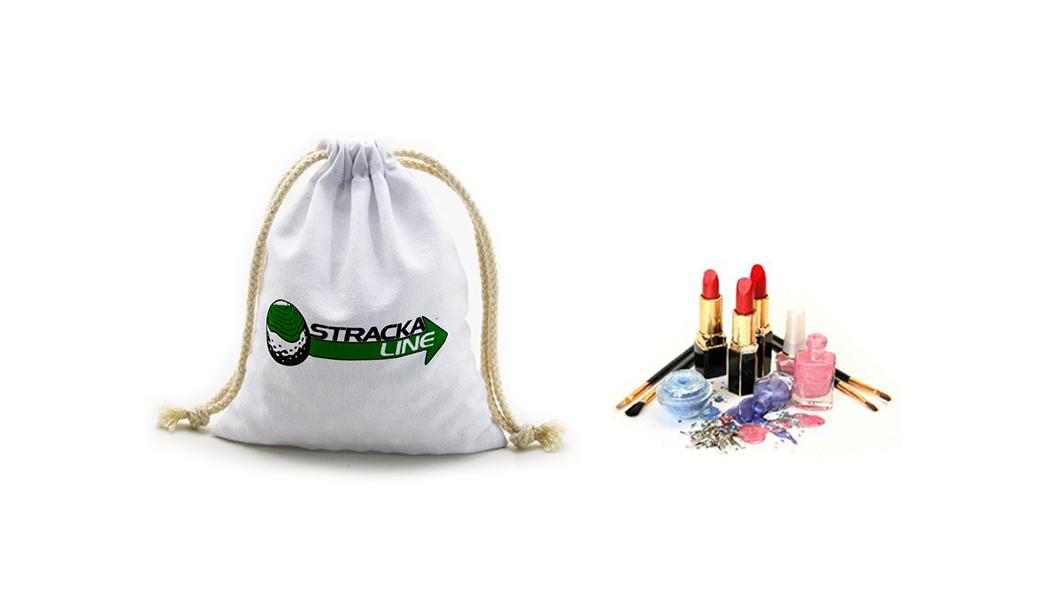 Reusable White Cotton Dawstring  Bag With Silk Printing-4