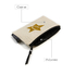 Natural Cotton Canvas Cosmetic Makeup Bag Glitter Printing Small Zipper Pouch
