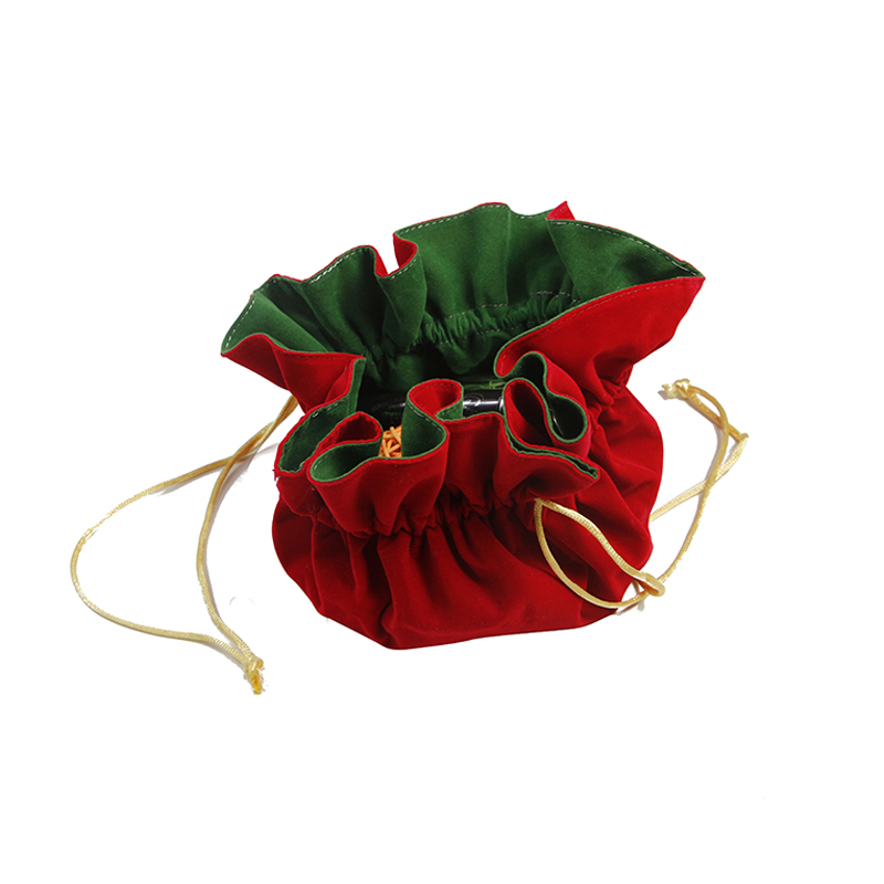 Double Layers Velvet Pouch Cosmetic Jewelry Drawstring Pouch