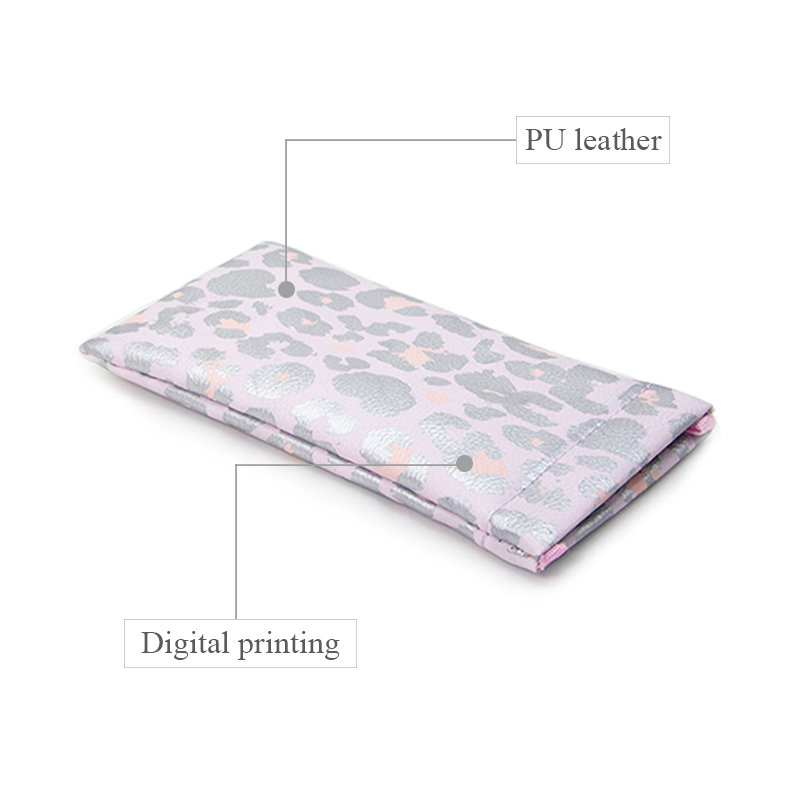 printed leather makeup bag at discount for gift