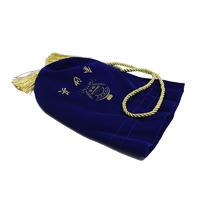 High Quality Blue Velvet Drawstring Wine Bottle Cosmetic Bags Wholesale