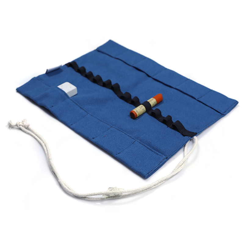 Cotton Small Canvas Bags Rolled Pencil Bag
