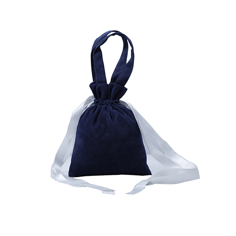 Small Velvet Cosmetic Jewelry Drawstring Tote Bag
