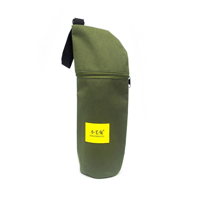 Portable Polyester Water Bottle Nylon Drawstring Bag