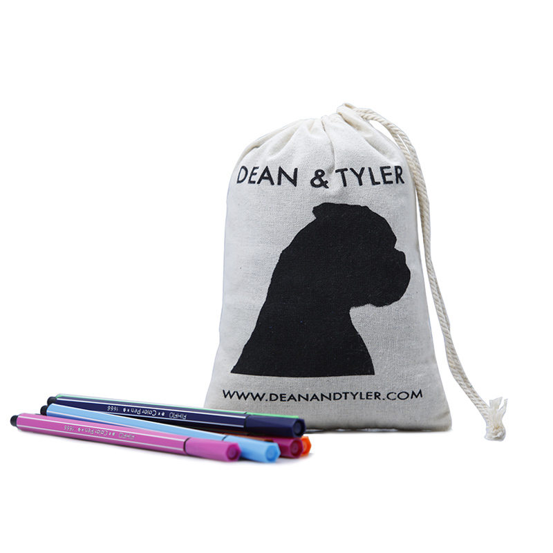 cotton drawstring bags with handle for shopping Yonghuajie