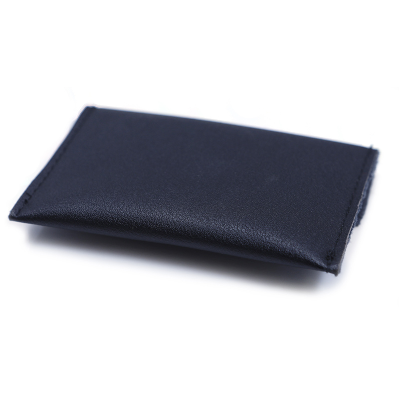 Black Pu Leather Makeup Bag With Snap