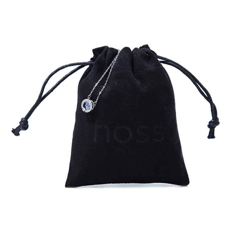 Black Suede Jewelry Pouch