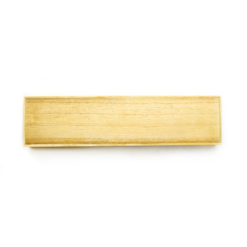 Natural Large Wooden Box With Slider Lid