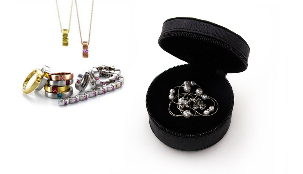 custom pu leather jewelry box free sample for necklace