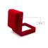 Yonghuajie custom velvet storage box red for jewelry