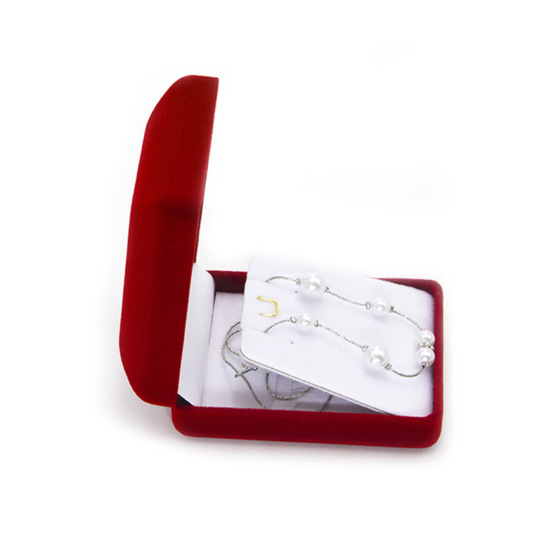 Luxury Velvet Flocking Jewelry Necklace Velvet Storage Box