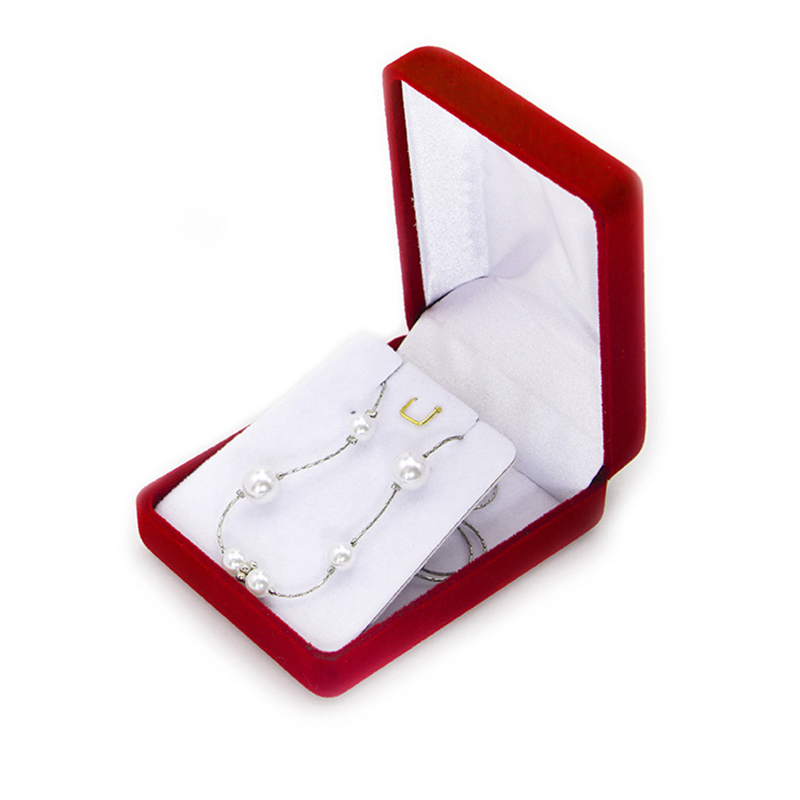 Luxury Velvet Flocking Jewelry Necklace Box