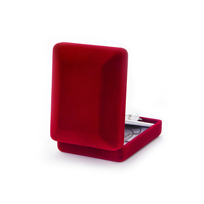 Luxury Velvet Flocking Jewelry Necklace Velvet Storage Box