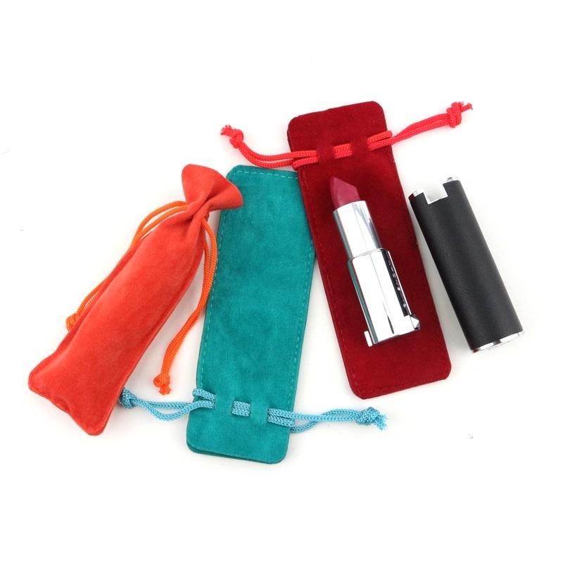 Portable Velvet Drawstring Lipstick Pouch