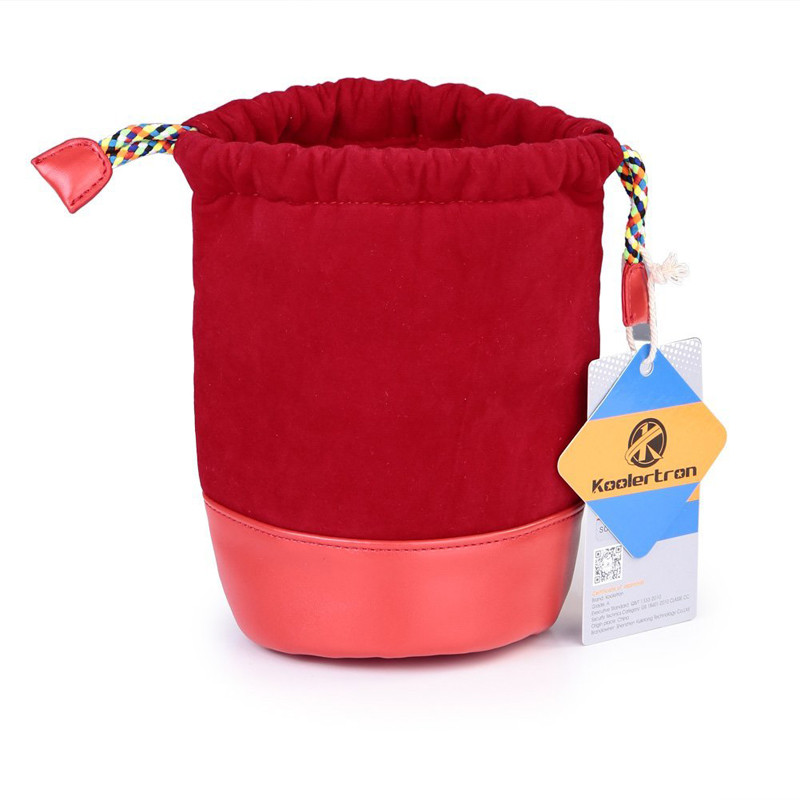 Double Layers Velvet Pouch Drawstring Camera Bag