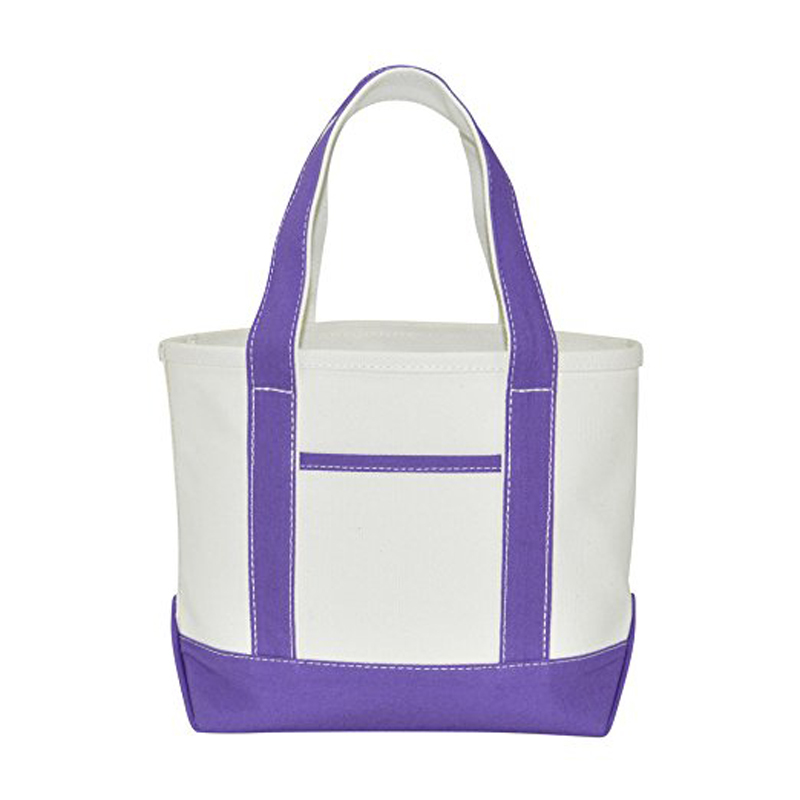 High Quality Cotton Canvas Tote Bags With Zipper