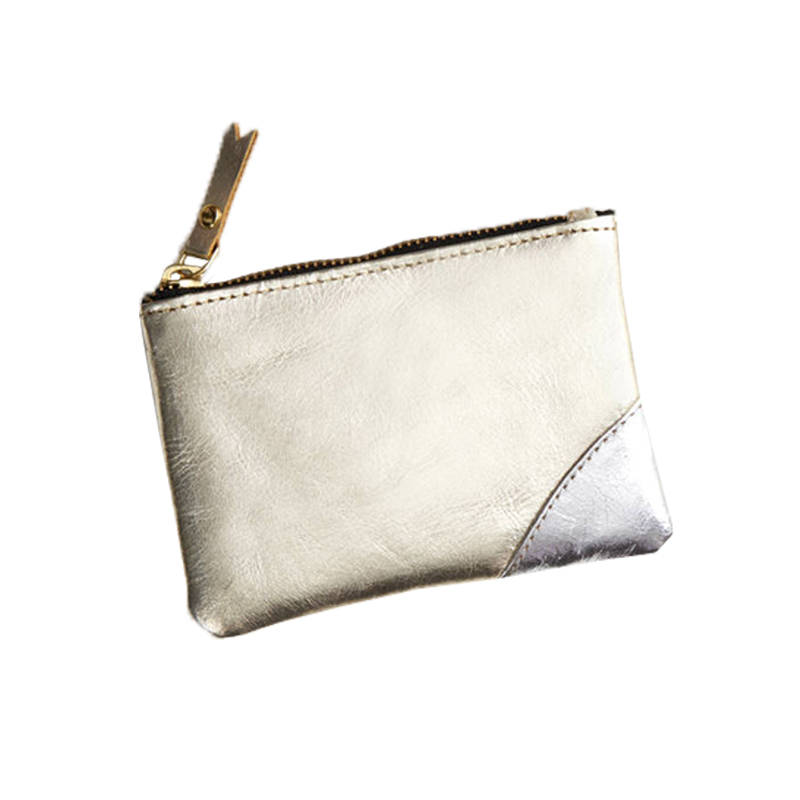 Fashion Pu Leather Coin Purse Small Jewelry Zipper Pouch