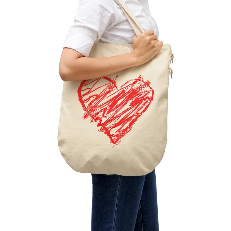 Natural Cotton Canvas Beach Tote Shopping Bag