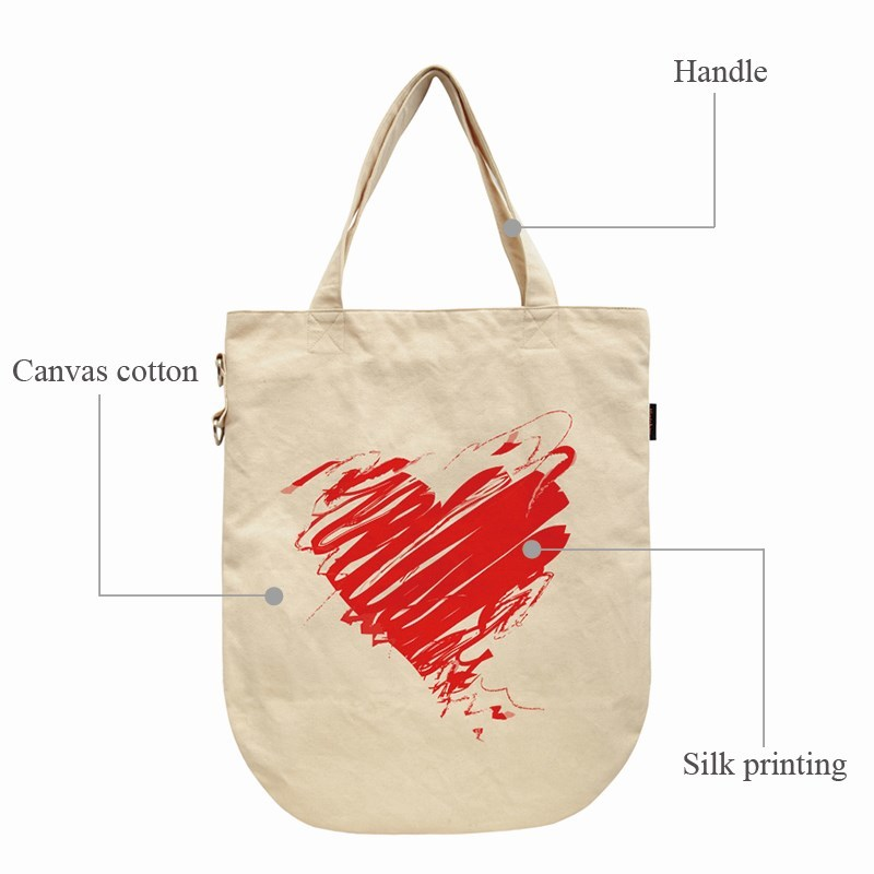 Yonghuajie order blank canvas bags canvas cosmetic bag pu leather for shopping