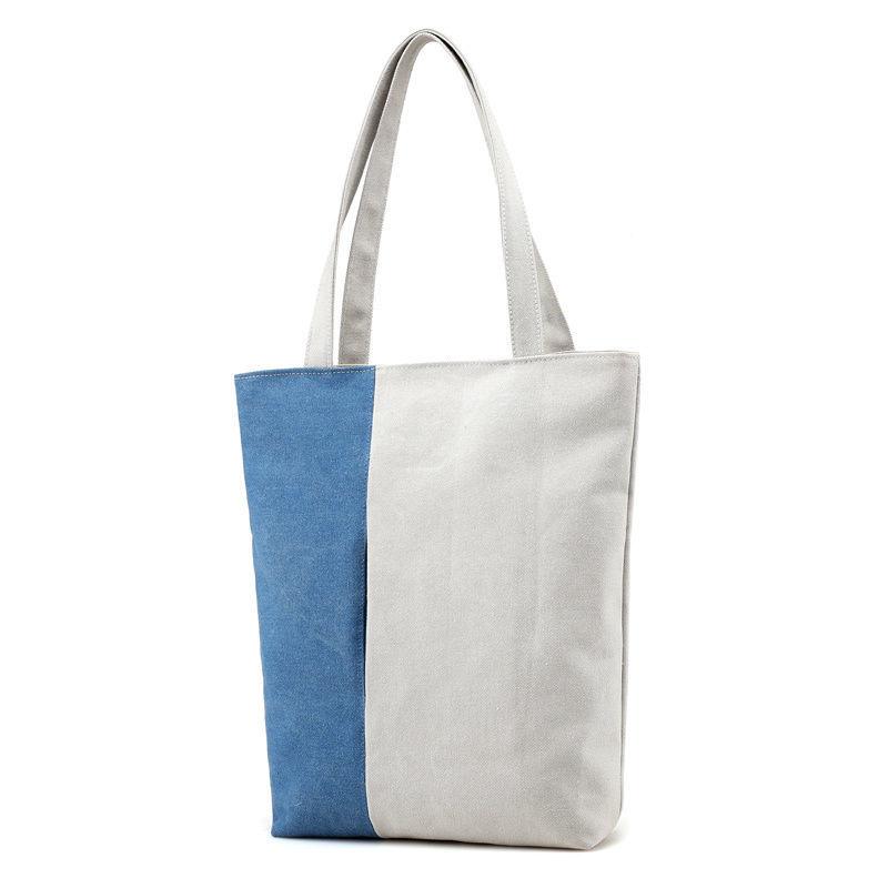 Two Colors Durable Cotton Wholesale Canvas Bags