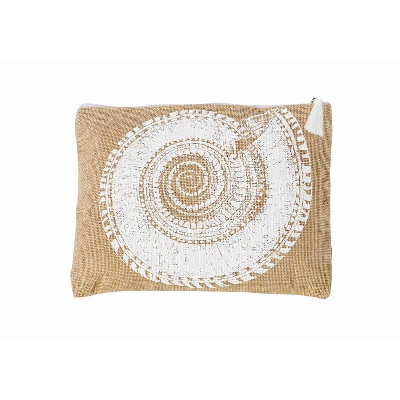 Natural Jute Cosmetic Zipper Bag