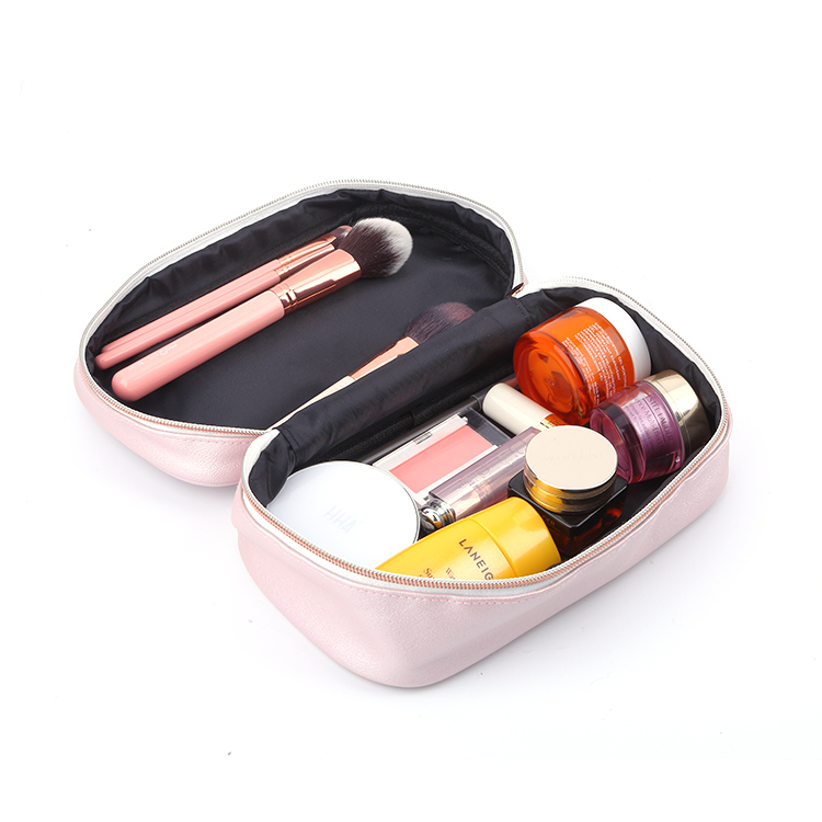 Girl's favorite beauty case Pu leather cosmetic makeup travel bag