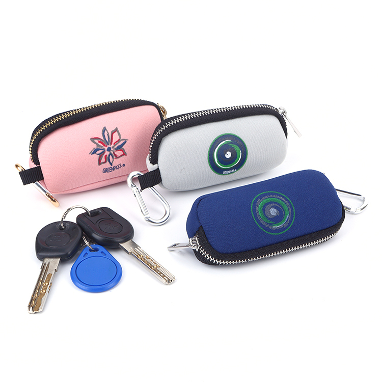 Mini Neoprene Pouch Coin Key Organizer Zipper Bag