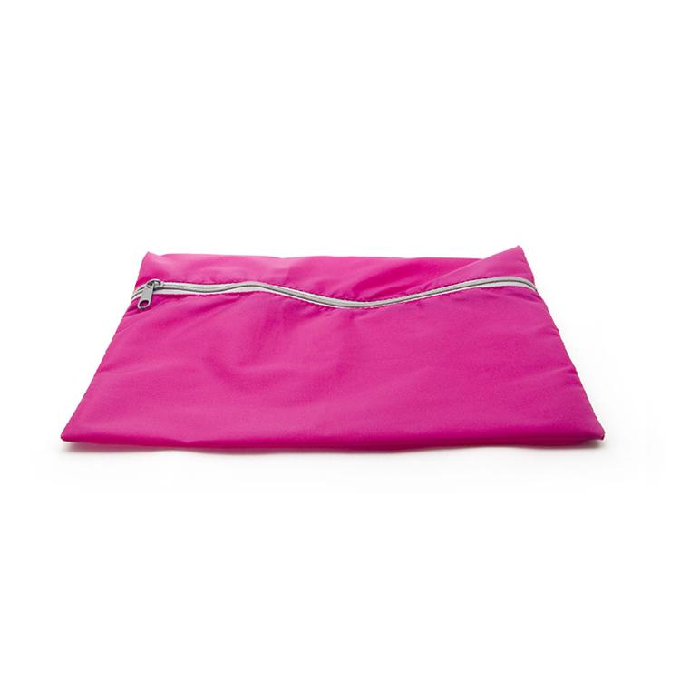 Blank Pink waterproof Laminated nylon zipper bag document travel clothing organizer bag