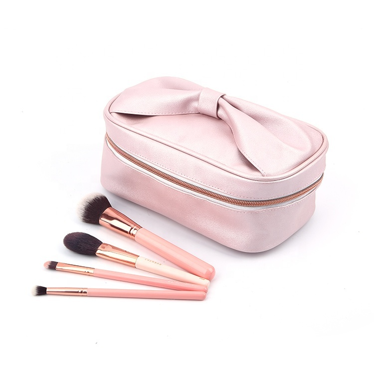 Cosmetic bag pu leather make up zipper bag