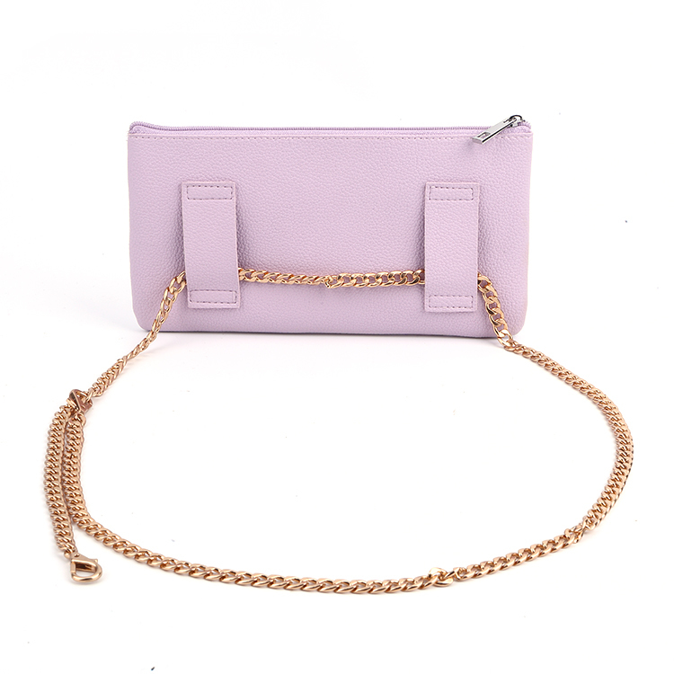 Customized Embossing Logo Ladies Pu Leather Waist Bag Woman Clutch Bag