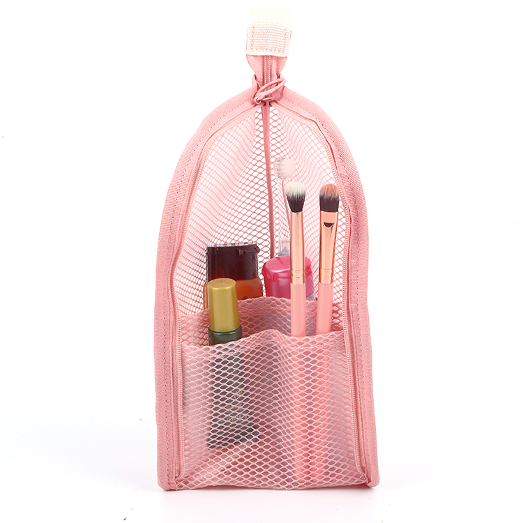 Pencil Makeup Mesh Cosmetic Travel Pouch Mesh Pouch With Zipper