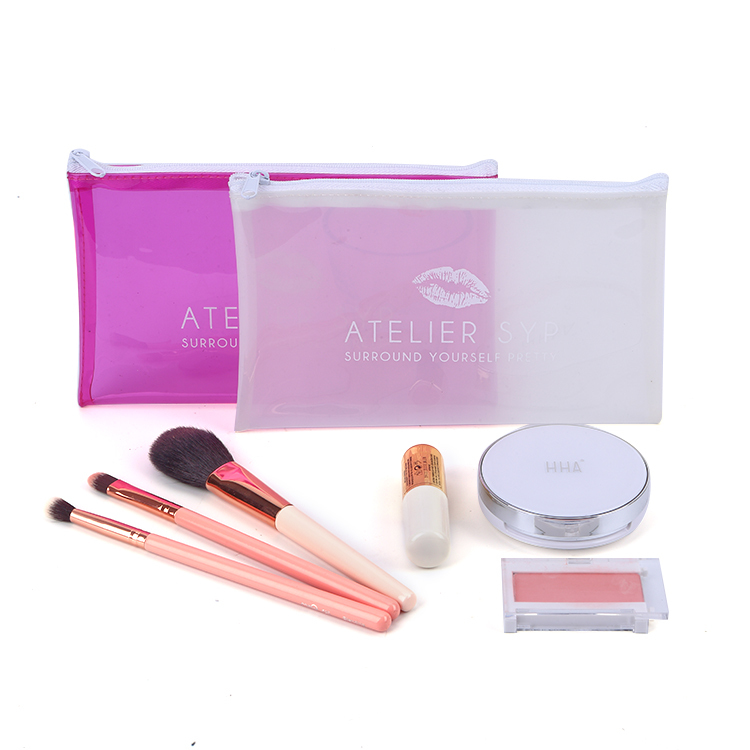 High quality cosmetic women cosmetic clear pvc bag with zipper