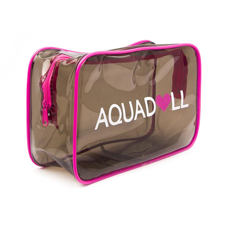 Custom Women Fashion Waterproof Travel Transparent Pvc Pouch Zipper Cosmetic Bag