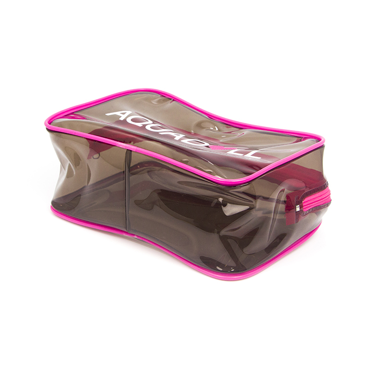 Custom Women Fashion Waterproof Travel Transparent Pvc Pouch Zipper Cosmetic Bag